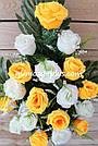 Искусственные цветы - Роза с гипсофилой композиция, фото 6