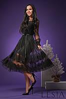 Эффектное праздничное платье А-силуэта из евросетки Lesya Аора 3