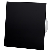 Витяжний вентилятор AirRoxy Таймер dRim 100 TS BB BLACK з панеллю чорний черный пластик