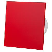Витяжний вентилятор AirRoxy Таймер dRim 100 TS BB з панеллю RED червоний красный скло стекло
