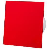 Витяжний вентилятор AirRoxy Таймер dRim 100 TS BB з панеллю RED червоний красный пластик