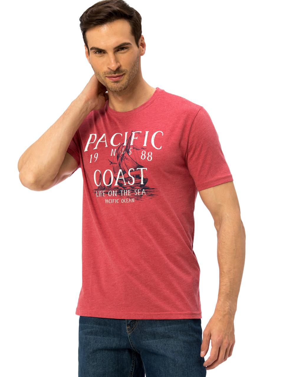 Коралловая мужская футболка LC Waikiki / ЛС Вайкики Pacific Coast