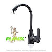 Пластиковый смеситель для кухни PLAMIX Mario-011 Black (без подводки)