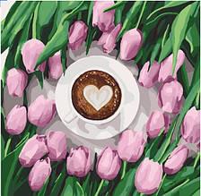 Картина по номерам Кофе для любимой