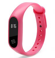 Силиконовый ремешок для фитнес-браслета Xiaomi Mi Band 2 Розовый