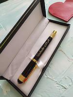 Ручка Глянцевая  с позолотой на подарок другу