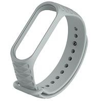 Силиконовый ремешок Ribbed для фитнес-браслета Xiaomi Mi Band 3 Серый