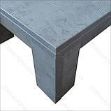 Стол-трансформер Optimus бетон Чикаго светло-серый, фото 5