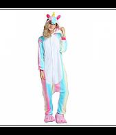 Кигуруми-пижама цветной единорог 155-175 см