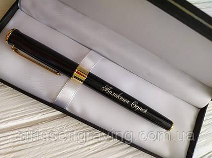 Ручка Глянцевая  с позолотой превосходная, фото 2