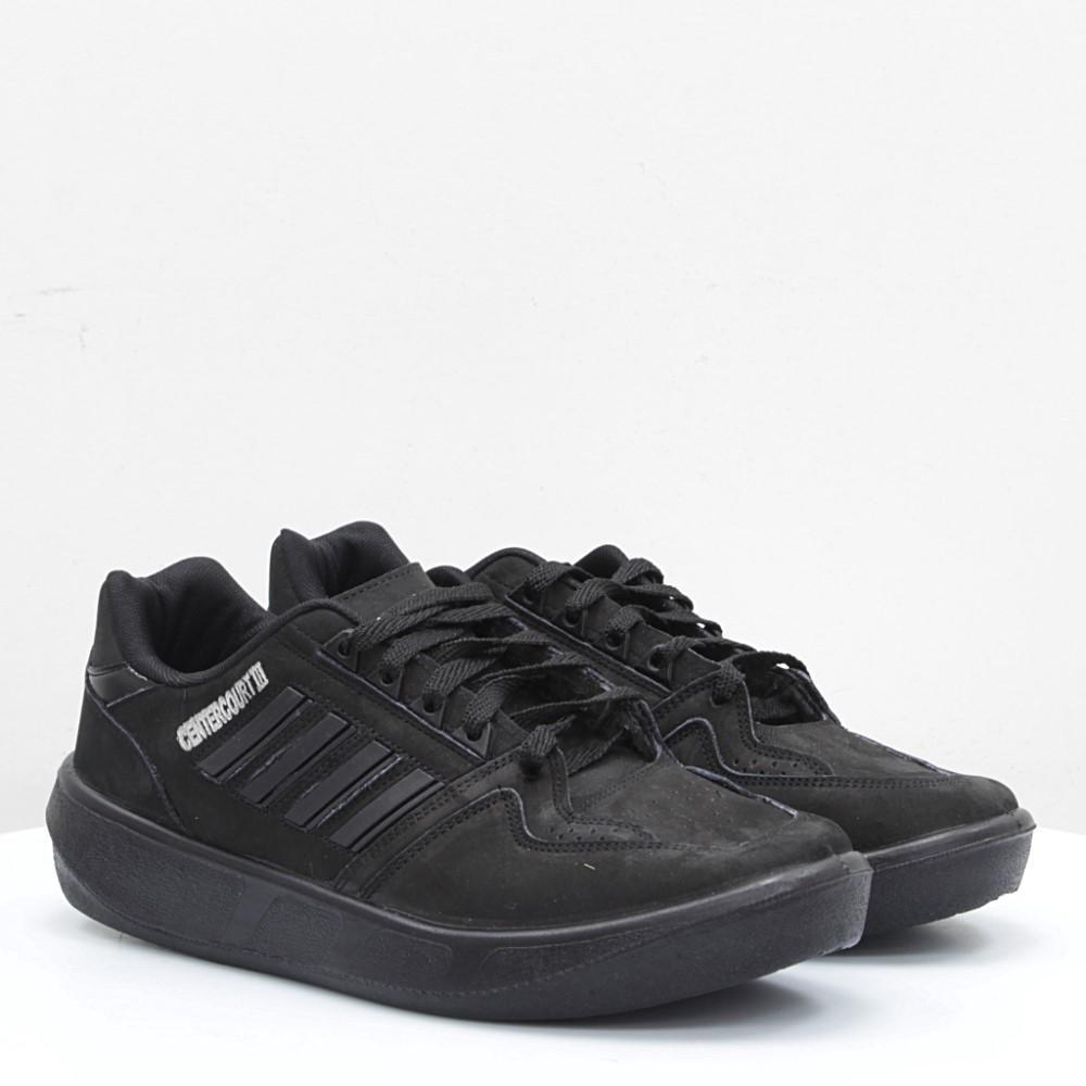 Мужские кросовки Adidas Олимпия Центркорт3, московский Адидас Иран, качественная обувь Olympia черные нубук.