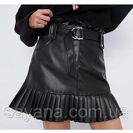 Женская юбка из эко-кожи ZARA ФК-5-0420