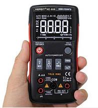 Мультиметр цифровой XE-608, автовыбор, True RMS, 9999 отсчетов black