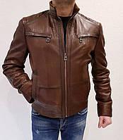 Куртка кожаная коричневая Maddox
