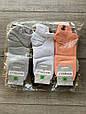 Жіночі короткі з вишитими смайликами шкарпетки однотонні бавовна Montebello 35-40 12 шт в уп мікс 6 кольорів, фото 3