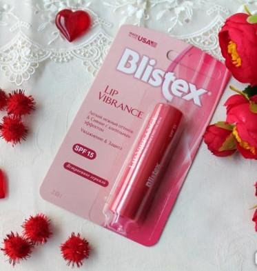 Бальзам для губ Blistex Lip Vibrance  розового  цвета  с ароматом США