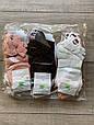 Жіночі короткі з вишитими смайликами шкарпетки однотонні бавовна Montebello 35-40 12 шт в уп мікс 6 кольорів, фото 2