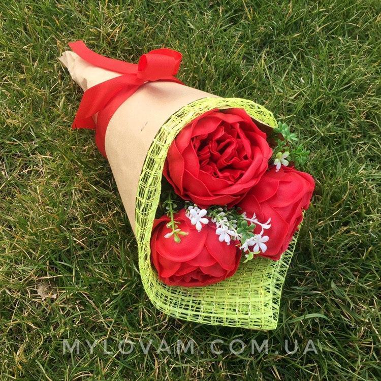 Мыльный букет, мыльная композиция, цветочная корзина