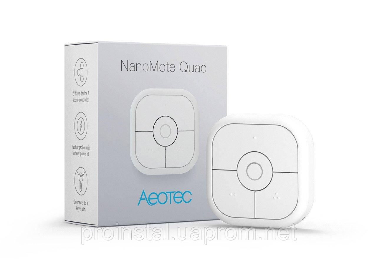 Пульт дистанционного управления Aeotec NanoMote Quad - AEOEZWA003