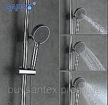 Душова система виливши є перемикачем на лійку хром Gappo Tomahawk G2402, фото 2