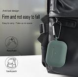 Силиконовый чехол IQEA для наушников Apple AirPods Pro Цвет Чёрный Bluetooth Silicone Case, фото 2