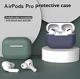 Силиконовый чехол IQEA для наушников Apple AirPods Pro Цвет Чёрный Bluetooth Silicone Case, фото 3