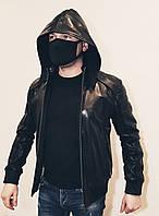 Куртка мужская кожаная с капюшоном Maddox