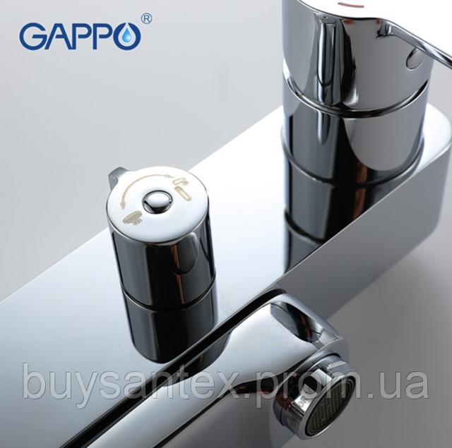 Душова система виливши є перемикачем на лійку хром Gappo Tomahawk G2402
