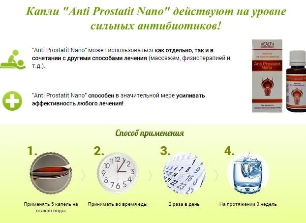 Анти Простатит Нано инструкция