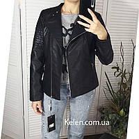 Куртка кожзам черная большие размеры 50-60