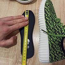 Розмір 32 33 Кросівки сітка кеди зелені білі дитячі літні на шнурках, фото 3