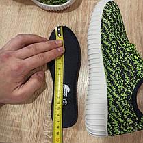 Розмір 32 33 Кросівки сітка кеди зелені білі дитячі літні на шнурках, фото 2