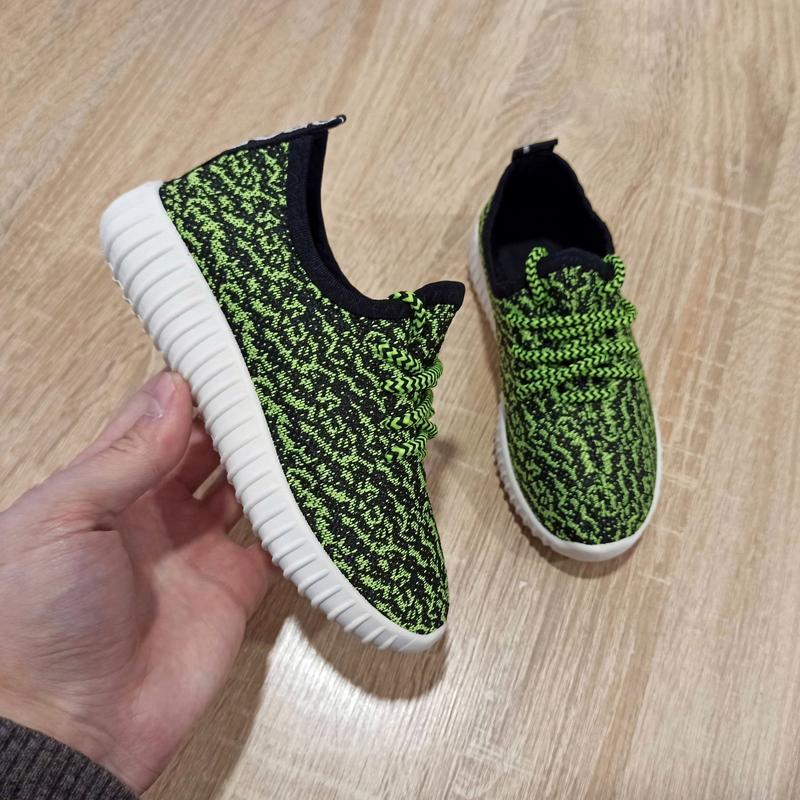 Розмір 32 33 Кросівки сітка кеди зелені білі дитячі літні на шнурках