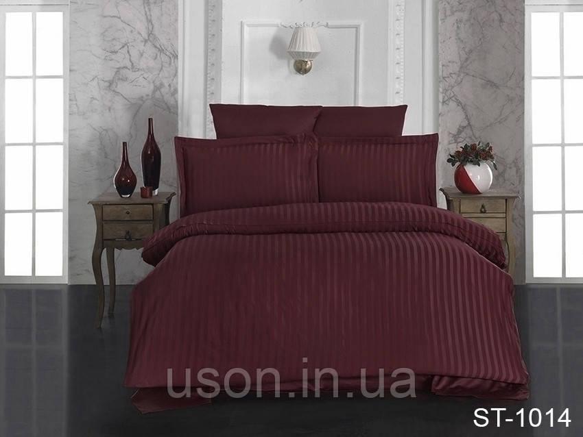 Комплект постельного белья страйп сатин TM TAG  ST-1014