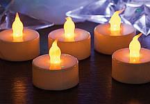 Свеча электронная с желтым пламенем