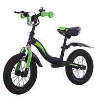 """Беговел-велобег с надувными колесами 12"""" TILLY Balance Rocket T-212520 Green"""