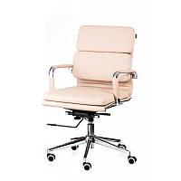 Невысокое офисное кресло Special4You Solano-3 бежевого цвета