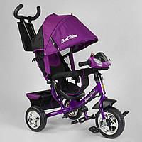 Детский трехколесный велосипед с фарой Best Trike 6588 - 29-309 Фиолетовый (колеса пена)