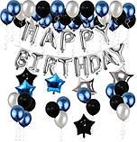 Набор Украшений на День Рождение 18-летие из воздушных шаров. Вечеринка Happy Birthday надувные арки фотозона, фото 3