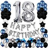 Набор Украшений на День Рождение 18-летие из воздушных шаров. Вечеринка Happy Birthday надувные арки фотозона, фото 2