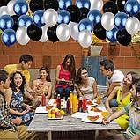 Набор Украшений на День Рождение 18-летие из воздушных шаров. Вечеринка Happy Birthday надувные арки фотозона, фото 4