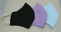 Маска защитная тканевая хлопковая, трехслойная,многоразовая.