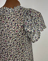 Стильная шифоновая блузка бренда Zara Basic Размер 38, фото 3