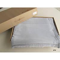 Постельное белье Buldans Aida Lacy серое (кружево+мережка) евро размера