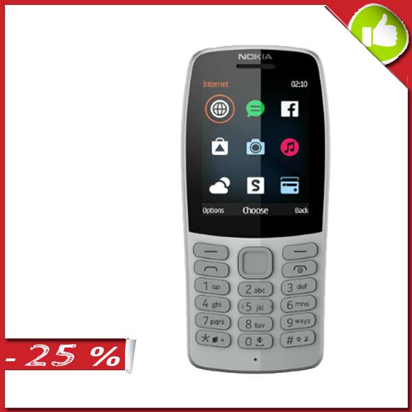 Мобильный телефон NOKIA 210 Dual SIM Grey (TA-1139)