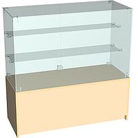 Прилавок торговый с надстройкой из стекла 1000