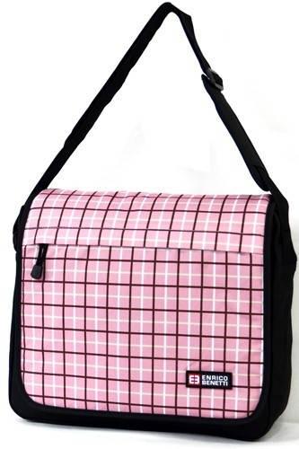 """Cумка почтальон с отделением для ноутбука до 15"""" Enrico Benetti Артикул: 54262009 розовый"""
