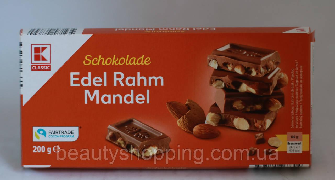 Edel Rahm Mandel Молочный шоколад с цельным миндалем 200g Kaufland Германия