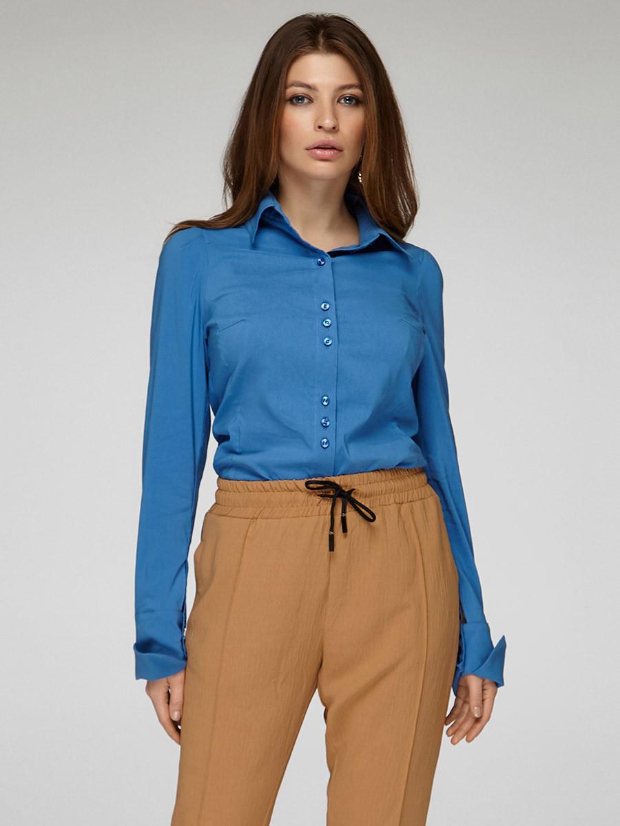 Женская блуза классика джинс, код 1838