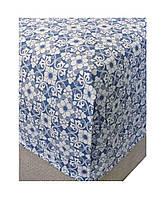 Простыня на резинке поплин Royal blue 90х200 см